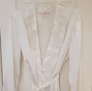 Victoria's Secret satin and lace robe